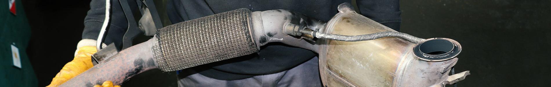 Ausgebauter Dieselpartikelfilter (DPF)